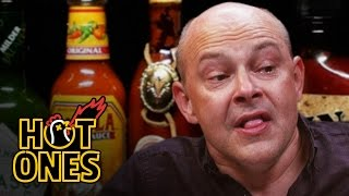 Rob Corddry Cries Real Tears Eating Spicy Wings | Hot Ones