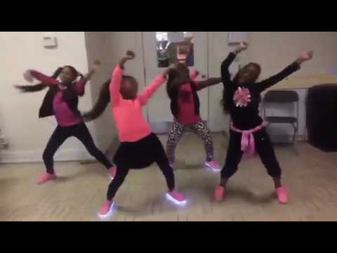 Juju on that Beat Dance Challenge Kids Hip Hop with LED shoes!