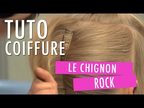 CHIGNON ROCK : comment faire une coiffure tendance - un chignon de ...