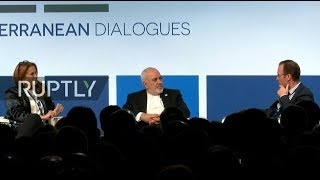 LIVE: Zarif participates in panel discussion on Iran at 'Rome MED'