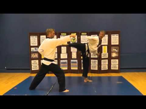 Black belt Taekwondo Advanced One step sparring.