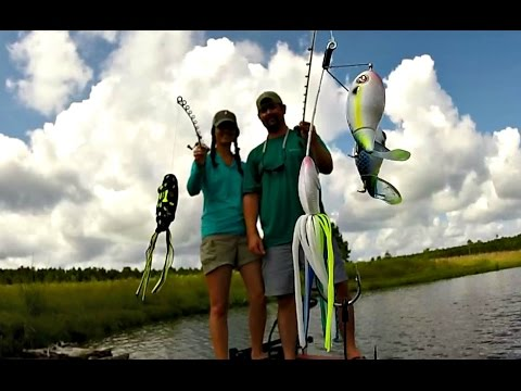 Husband vs. Wife Topwater Fishing Challenge - BamaBass Duel