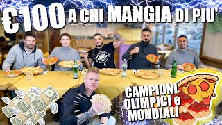 REGALO 100 EURO a chi mangia più PASTA e PIZZA! 🍝🍕 Sfida tra Fighters! 🥊