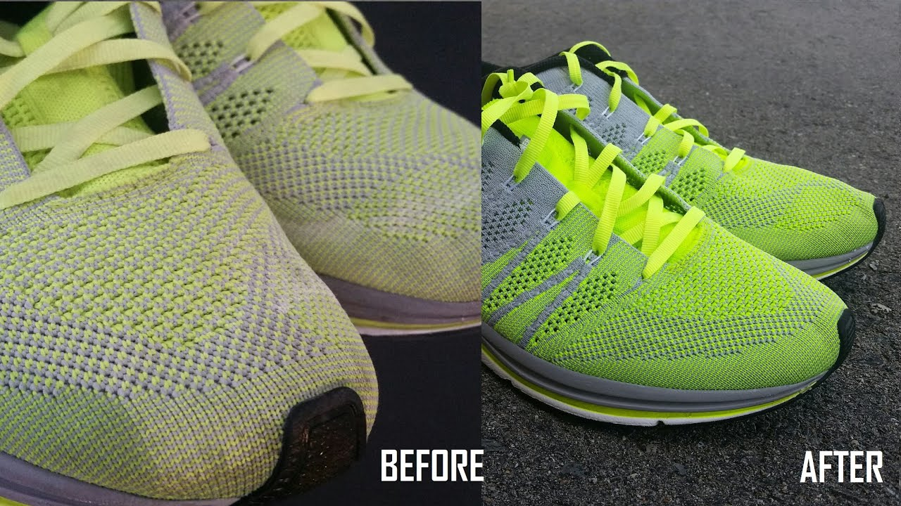 Novela de suspenso sal sesión  HOW TO CLEAN YOUR NIKE FLYKNIT TRAINERS AND LUNAR FLYKNITS - YouTube