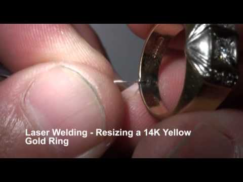Laser Welding Resizing 14K Gold Ring