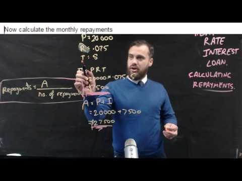 How to calculate monthly repayments on a Flat Rate interest loan