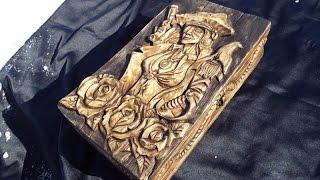 Нарды . Часть1 Рисунок - эскиз, контур, Первый слой. Резьба по дереву плоскорельеф