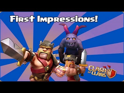 Clash Of Clans - Level 6 Minions, Heroes Ability: Iron Fist, Queens Cloak ( First Impressions )