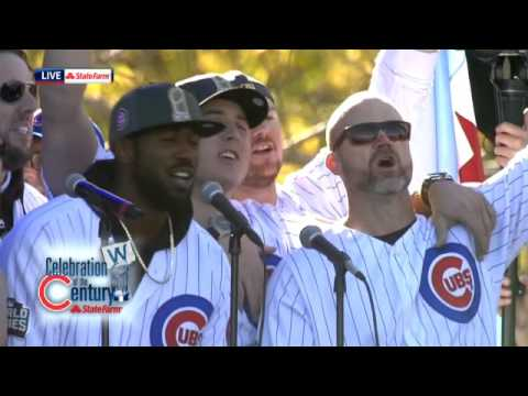 Brett Eldredge leads Cubs fans in 'Go Cubs Go'