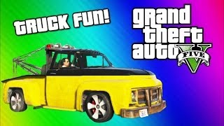 GTA 5 Online Funny Moments Gameplay - Tow Truck, Under Map Glitch, Terroriser Arnold Schwarzenegger