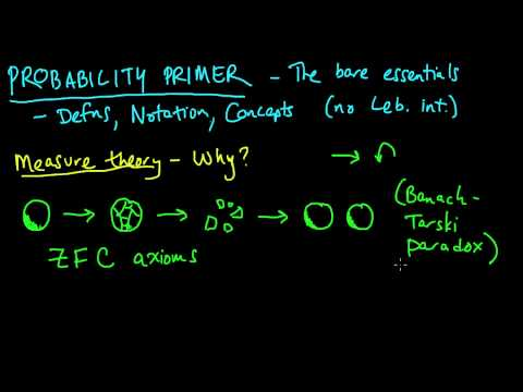 (PP 1.1) Measure theory: Why measure theory - The Banach-Tarski Paradox