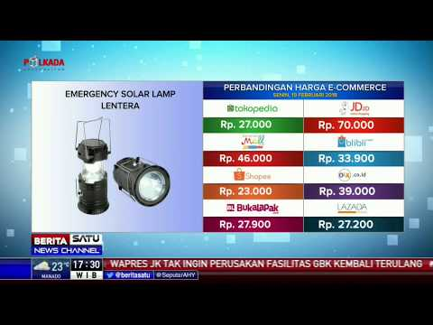 Perbandingan Harga E-Commerce: Emergency Solar Lamp Lentera