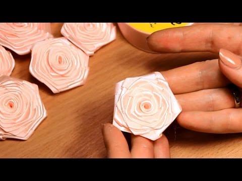 розы из атласной ленты 5 см оказаться перед