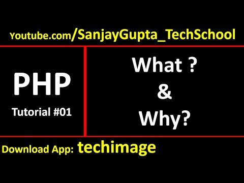 01 What is PHP, what php can do, php as server side scripting language | Sanjay Gupta