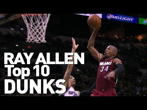 2e97ea25da1 Ray Allen s Top 10 Career Dunks - YouTube