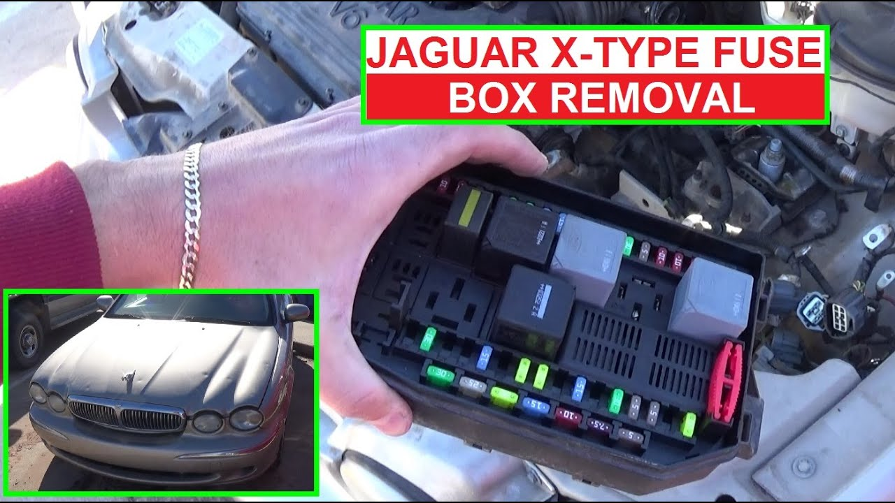 how to remove and replace the engine fuse box on jaguar x-type x type