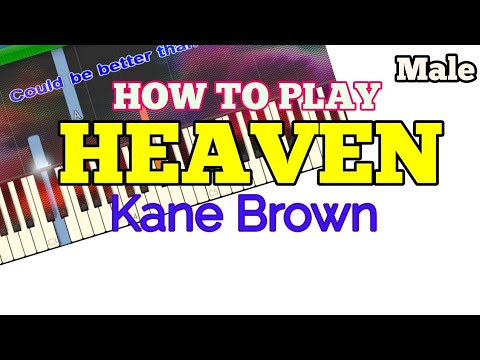 [How to, Male] Heaven - Kane Brown (Easy Piano Tutorial + Lyrics/Lyric Video)