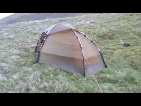 "Hilleberg Soulo ""wild"" camp on Threlkeld Common, Lake District"