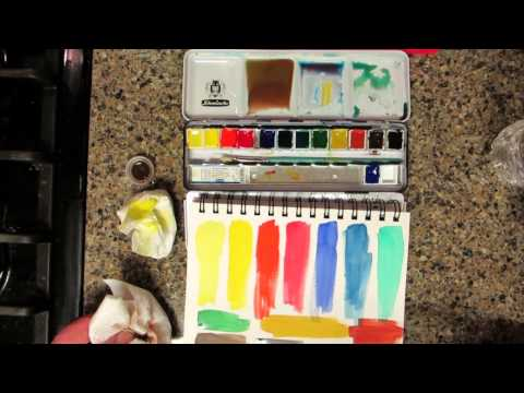 Schmincke Watercolors Review & Demo