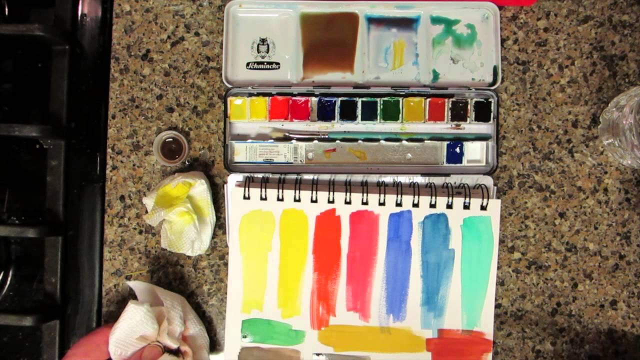 Schmincke Watercolors Review & Demo - YouTube