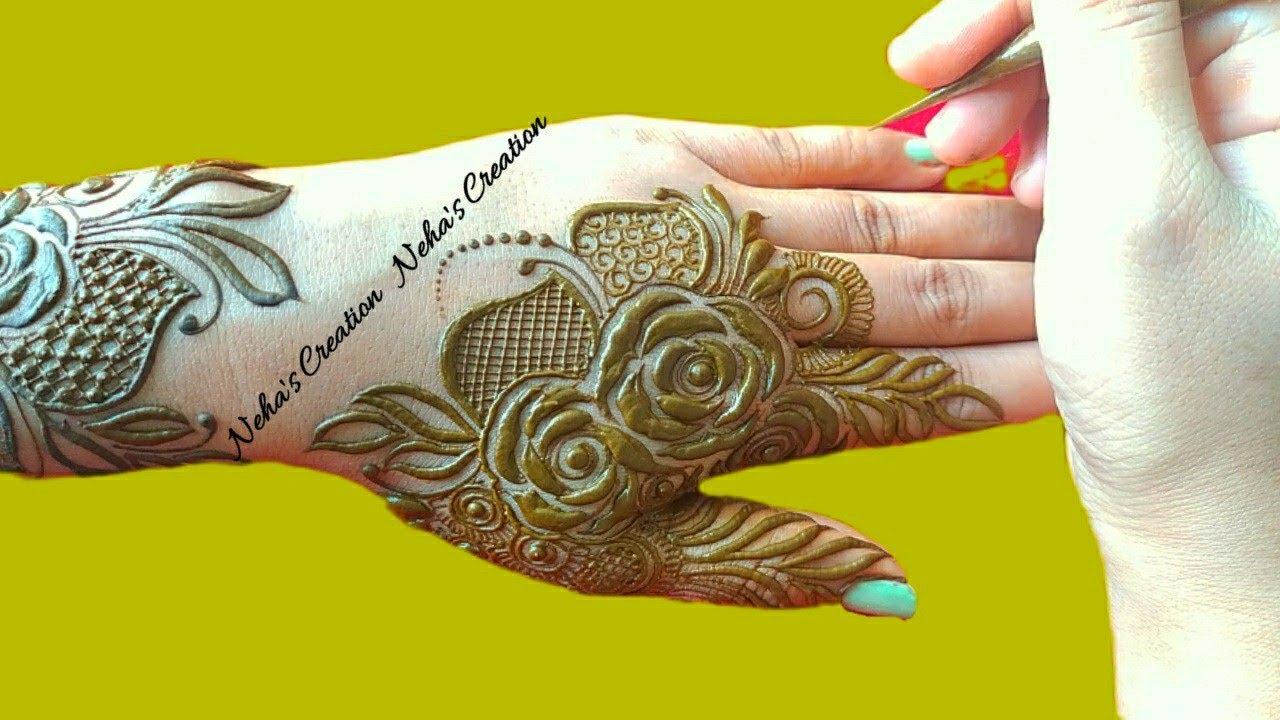 New Style Beautiful Dubai Mehndi Design Ll Latest Pattern Henna Ll Back Hand Stylish Mehndi Design Youtube