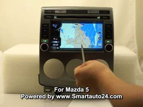 mazda 5 dvd player sat navi gps radio system youtube. Black Bedroom Furniture Sets. Home Design Ideas