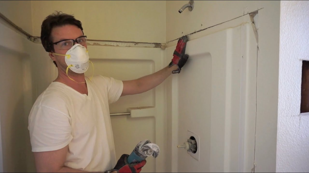 How to Remove a Shower Stall  YouTube