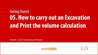 How to carry out an Excavation and print the volume calculation