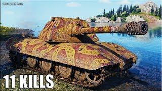 Танк Е100 11 ФРАГОВ за БОЙ World of Tanks