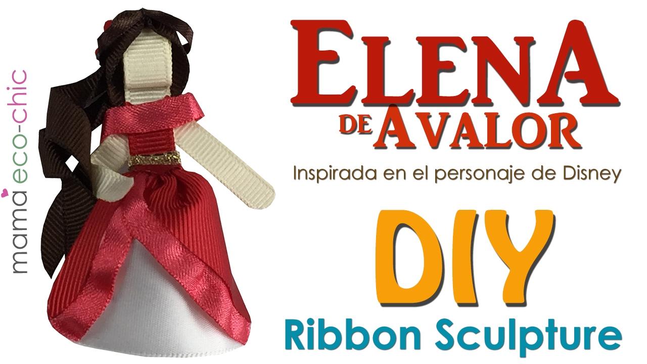 Elena De Avalor Tutorial Ribbon Sculpture