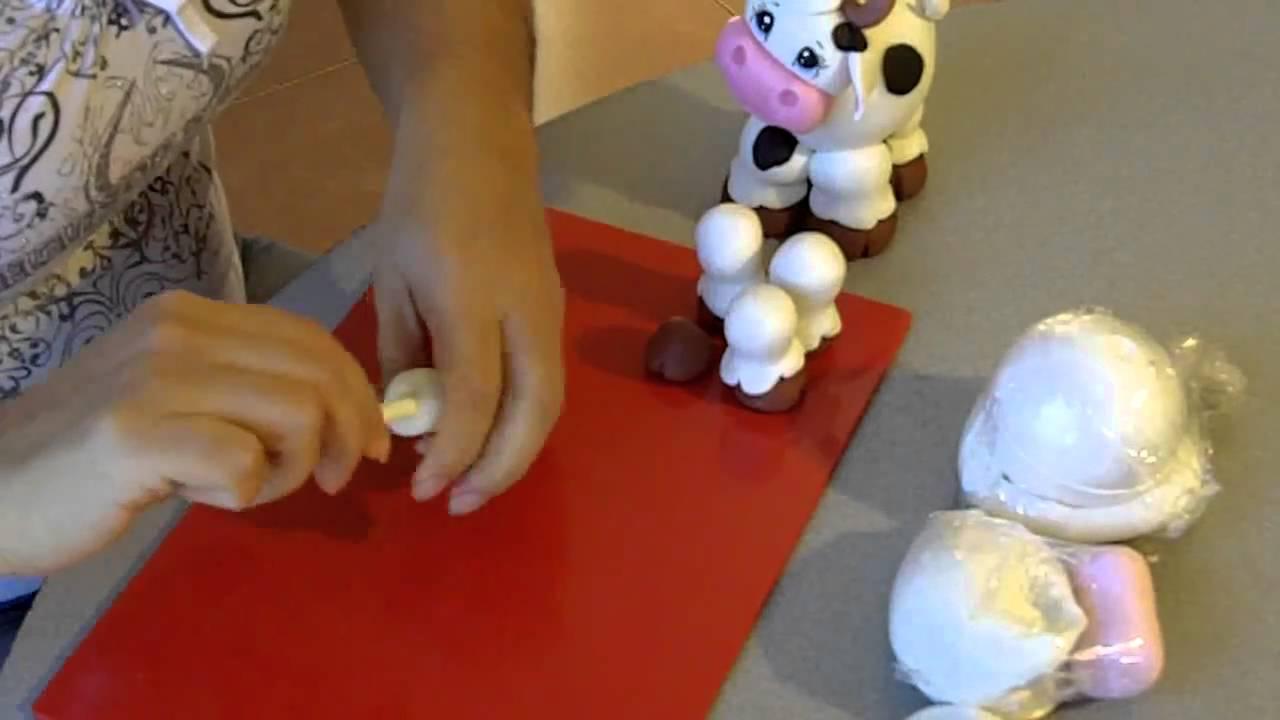 Porcelana fria vaquita 1de2 youtube - Adornos para la cocina ...