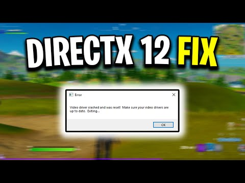 How To Fix DirectX 12 Crashing/Freezing In Fortnite Chapter 2! (Error Message Fix)