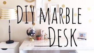 DIY MARBLE DESK & OFFICE STYLE PAPERPANDUH
