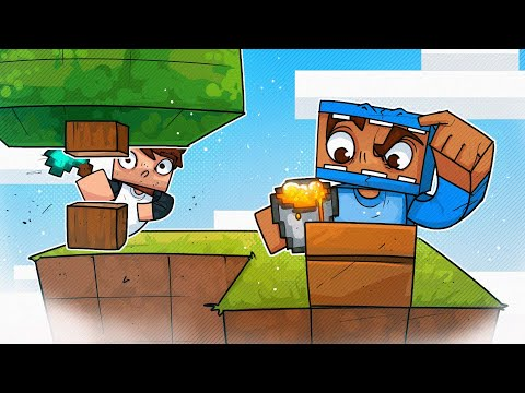 Two Dummies Try Skyblock! - Minecraft!