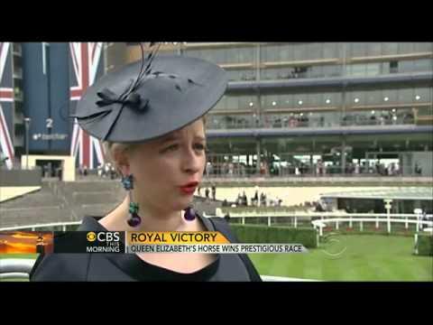 Queen Elizabeth II makes history at Royal Ascot races   CBS News Video