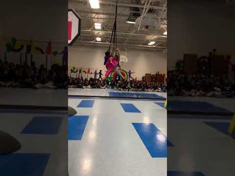 Aerial Straps Duo | Aladdin and Jasmine @ Mary W French Academy | Gamma Phi Circus