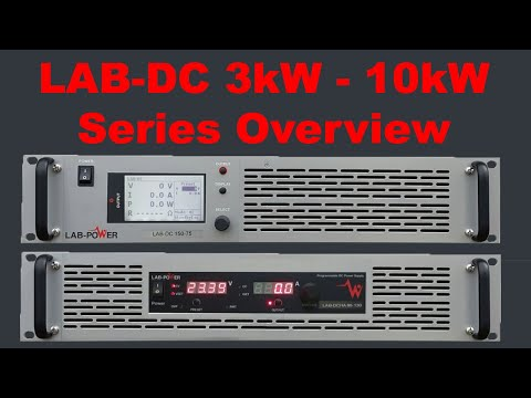 High Power DC Programmable Power Supply 3kW to 10kW