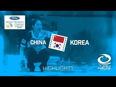 HIGHLIGHTS: China v Korea – Round-robin – Ford World Women's Curling Championship 2018