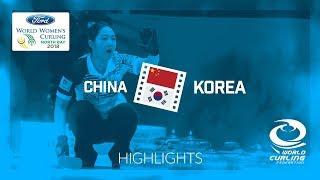 HIGHLIGHTS: China v Korea – Round-robin – Ford World Women's Curling Championship 2018