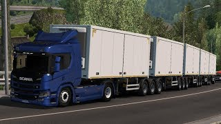 [1.34] Euro Truck Simulator 2 | Road Train with default Trailers | Mods