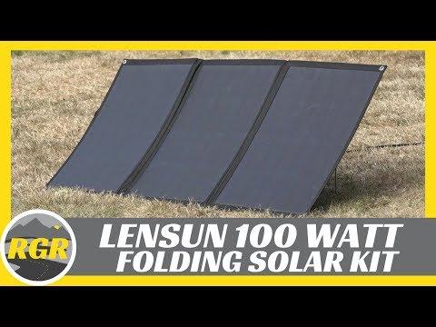 100 Watt Lightweight Portable Flexible Solar Panel Kit from Lensun | Product Review
