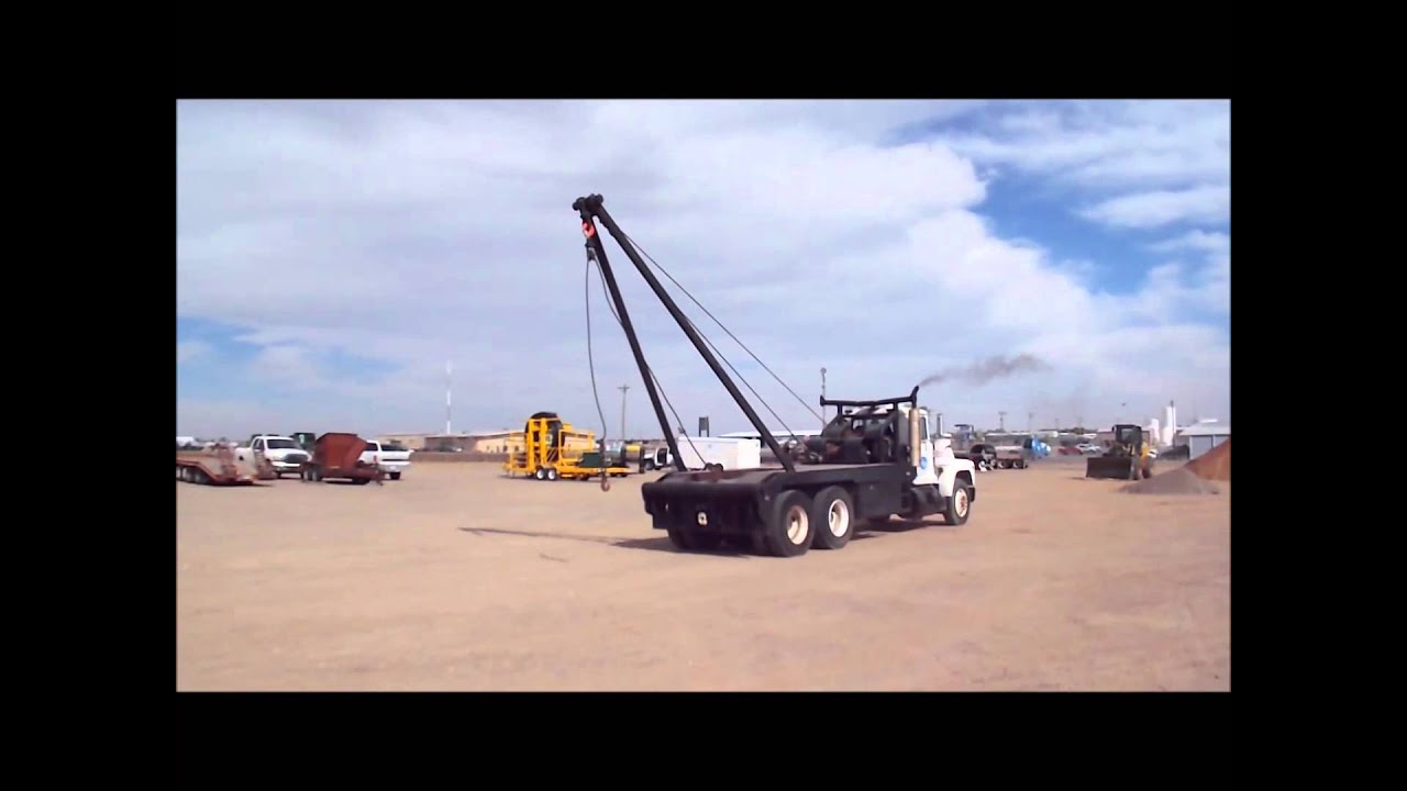 Mack Truck For Sale >> 1986 Mack R688ST oilfield winch truck for sale | sold at auction December 19, 2013 - YouTube