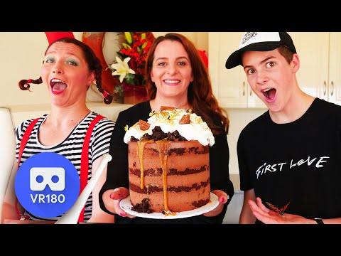 VR VIDEO Juggling Chocolate Mousse Cake | How To Cook That Ann Reardon