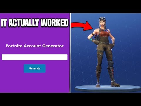 So I Used A RARE Fortnite Account Generator And It ACTUALLY Worked...