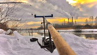 Рыбалка на флэт метод фидер зимой на карпа карася леща 2021
