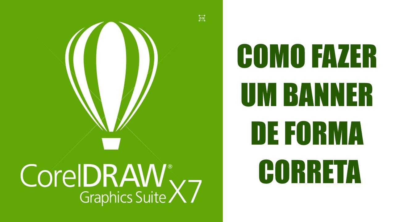 Tutorial de Corel Draw X7 - Banner de forma correta para a internet - YouTube