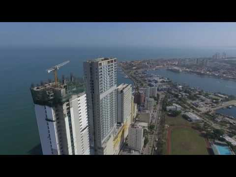 Hotel Hyatt y H2 Cartagena desde el Aire