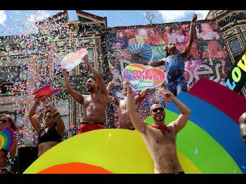 Gay pride revelers in San Francisco sound note of resistance