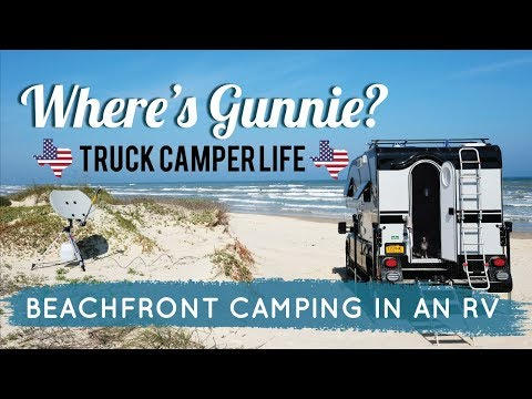 Truck Camper Life | OFF GRID Beachfront RV Camping + Our Solar Panels!