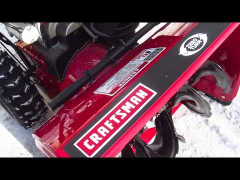 Craftsman Quiet Technology Snowblower YouTube